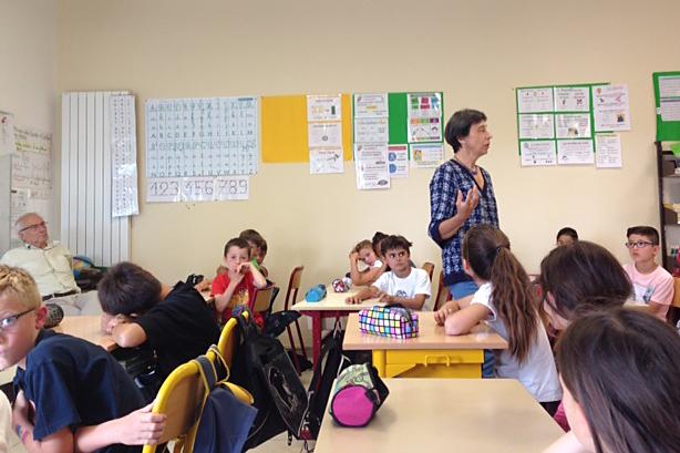 Solstice d'été : première rencontre avec les élèves de l'école de Sanilhac-Sagriès