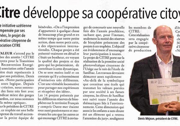 Citre développe sa coopérative citoyenne