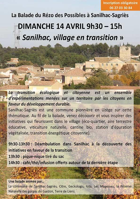 Sanilhac, village en transition