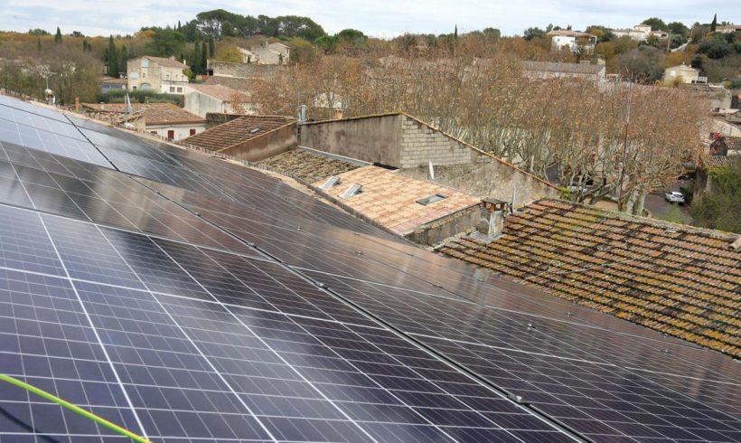 Inauguration du toit solaire de la Maison du Grand site du Gardon