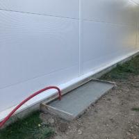 Théziers : dalle de béton de l'armoire électrique