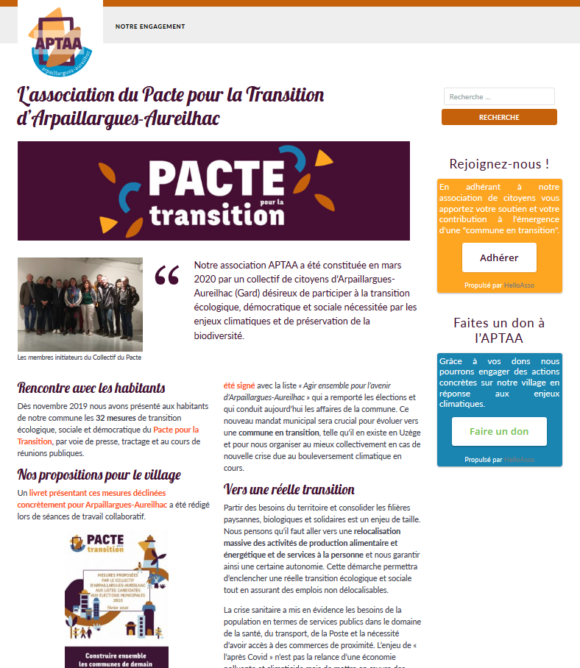 Association du Pacte pour la Transition Arpaillargues-Aureilhac