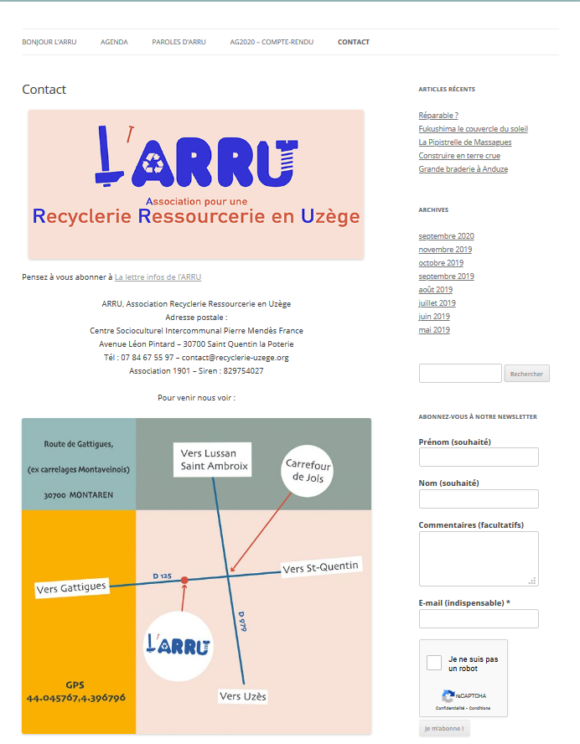 Association pour une Recyclerie  Ressourcerie en Uzège